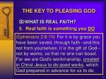 the key to pleasing god11