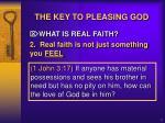 the key to pleasing god5