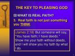 the key to pleasing god7