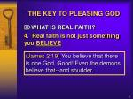 the key to pleasing god9