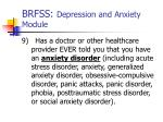 brfss depression and anxiety module5