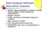 data analyses methods descriptive analyses1