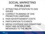 social marketing problems