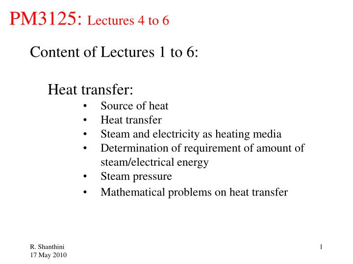 pm3125 lectures 4 to 6 n.