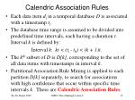 calendric association rules