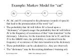 example markov model for cat