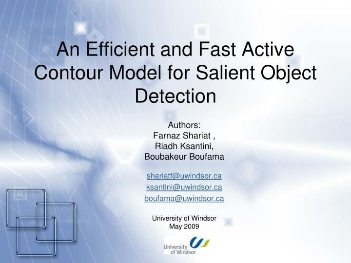 an efficient and fast active contour model for salient object detection n.