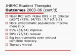 jhbmc student therapist outcomes 2003 06 cont d1