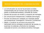 investigaci n en comunicaci n