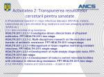 activitatea 2 transpunerea rezultatelor cercetarii pentru sanatate3