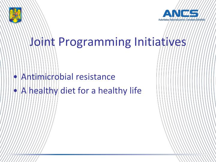 Joint Programming Initiatives