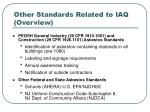 other standards related to iaq overview