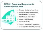 peosh program response to unacceptable iaq