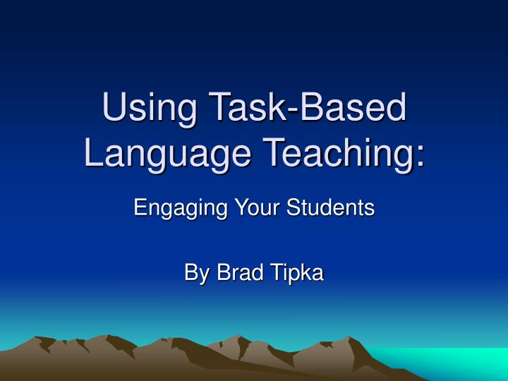 using task based language teaching n.