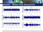 results motion time series tlp