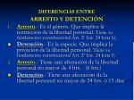 diferencias entre arresto y detenci n