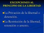 excepciones al principio de la libertad
