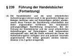 239 f hrung der handelsb cher fortsetzung