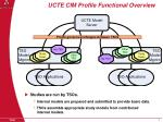 ucte cim profile functional overview