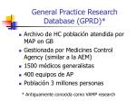 general practice research database gprd