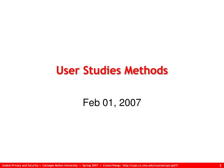 user studies methods n.