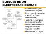 bloques de un electrocardiografo