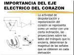 importancia del eje electrico del corazon