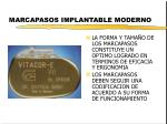 marcapasos implantable moderno