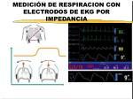 medici n de respiracion con electrodos de ekg por impedancia