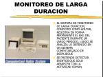 monitoreo de larga duracion