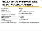 requisitos minimos del electrocardiografo
