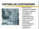 sistema de cateterismo
