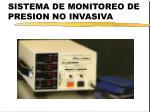 sistema de monitoreo de presion no invasiva