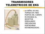 transmisores telemetricos de ekg