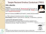 terapia racional emotiva conductual trec