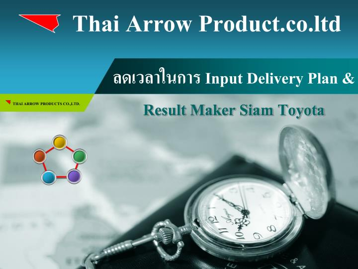 input delivery plan result maker siam toyota n.