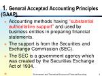 1 general accepted accounting principles gaap
