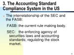 3 the accounting standard compliance system in the us