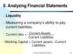 6 analyzing financial statements