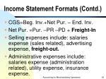 income statement formats contd1
