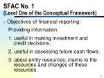 sfac no 1 level one of the conceptual framework