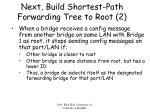 next build shortest path forwarding tree to root 2