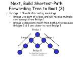 next build shortest path forwarding tree to root 3