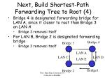 next build shortest path forwarding tree to root 4