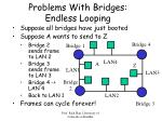 problems with bridges endless looping