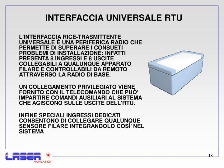 INTERFACCIA UNIVERSALE RTU