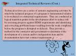integrated technical reviews cont2