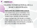 validez internacional de la marca registrada