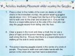activities involving movement 7 9