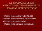 1 3 tipolog as de las estructuras territoriales de las reas metropolitanas